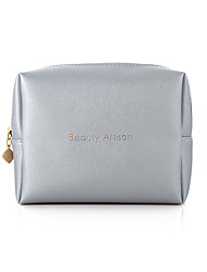 Cosmetic Bag Solid Quadrate PU White Normal 16.5*5.3*13