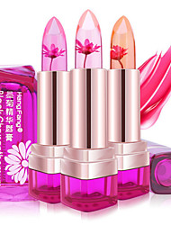 1Pcs Temperature Change Color Lip Balm 3 Color Waterproof Long-Lasting Sweet Transparent Jelly Flower Pink Moisturizer Lipstick