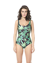женщины новые листья печати хорошую эластичность купальники