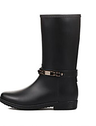 Korean women's boots long boots-in-tube water shoes do not wear leg side package