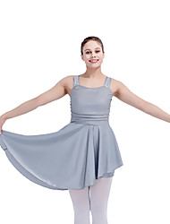 Latin Dance Dresses Women's Children's Performance Nylon Sequined Mesh Lycra Pleated 1 Piece Sleeveless Dress