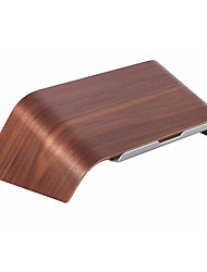 Samdi Wooden Birch Sloping StandAluminlum Bracket Laptop Wood Holder Riser for Macbook HP Dell Notebook