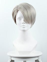 ouo perruque de cheveux de la glace sur le yuri / yuri !!! sur viktor glace fu nicky Luofu mélangé cyan / grand-mère grise haute