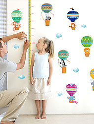 50-180Cm Animal Hot Air Balloon Height Stickers Cartoon Kindergarten School Wall Stickers Environmental Wall Art