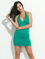 XiXiangYi® Women's Sexy Halter Cotton and Spandex Mini Dress