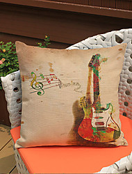 1 pcs Electronic organ drum printing Linen Pillow CaseNovelty Modern/Contemporary