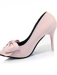 Damen-High Heels-Outddor-PU-Stöckelabsatz-Komfort-Schwarz Blau Rosa