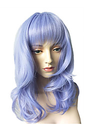 Women's Party Wig Long Straight Wig Cosplay Costume Wig Hairstyle Air Bangs Heat Resistant Wig