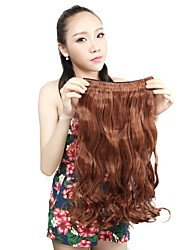 1Pcs 110g 20'' Clip in on Synthetic Hair Weft Extensions Curl Wavy Hair Pieces 30#