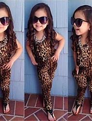 Girl's Cotton Blend Overall & Jumpsuit , Summer/Spring Short Sleeve