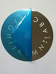 2pcs / много английского алфавита шаблон для ногтей печати
