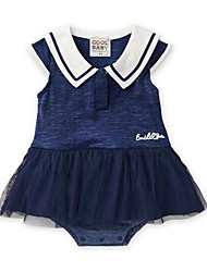 Baby Casual/Daily Patchwork One-Pieces,Rayon Summer Short Sleeve