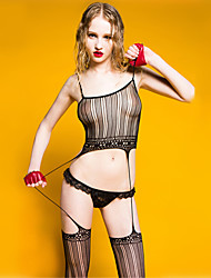 SKLV Women's Nylon Gartered Lingerie / Ultra Sexy / Teddy Nightwear