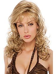 cheveux bouclés sexy perruque synthétique tendance résistant style de célébrité de chaleur avec Bang style européen de haute qualité