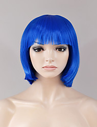 Europe and the United States fashion short section in the bangs BOBO head blue high temperature wire wig