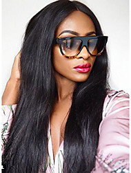 Silky Straight Lace Front Human Hair Wigs For Black Women Brazilian Virgin Natural hairline Lace Front Wigs