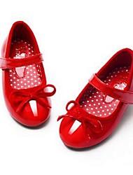Girl's Flats Comfort PU Dress Black Red