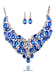New Fashion Africa East Europe Color Exaggeration Bride Necklace Earrings Set