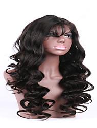 горячей продажи 7а натуральный черный цвет бразильские виргинские человек фронт шнурка парики оптом для черная женщина фарфора поставщика