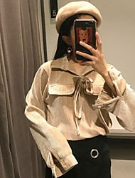 Sign CHIC Korea retro velvet lace shirt female coat