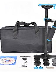 yelangu populaire s60t de stabilisateur de caméra en fibre de carbone 60cm avec la couleur bleue support DSLR caméras universelles