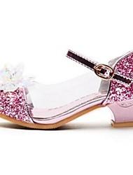 Girl's Heels Comfort PU Dress Casual Pink
