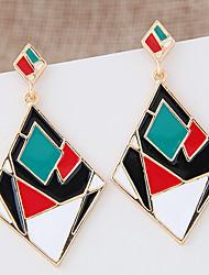 Серьги-слезки Сплав Заявление ювелирные изделия Мода Черный Радужный Бижутерия 1 пара