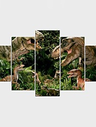 Stretched Canvas Print Animal Fantasy Modern Classic,Five Panels Canvas Any Shape Print Wall Decor For Home Decoration