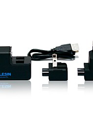 TELESIN Professional EU/US Plug Detachable Dual USB  Wall Battery Charger for Gopro Hero 3 / 3/4