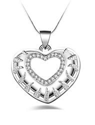Pendentif de collier Zircon cubique Forme Géométrique Argent sterling Zircon Original Géométrique Mode euroaméricains Argent Bijoux Pour