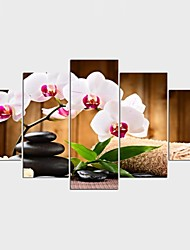 Stretched Canvas Print Landscape Floral/Botanical Style ModernFive Panels Canvas Any Shape Print Wall Decor For Home Decoration