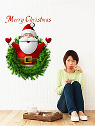 1Pcs 27Cm*20Cm Santa Claus Wall Stickers Can  Paste In  Store Supermarket Store Window Or Home