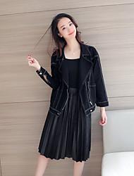 Sign 2017 spring models new Korean bat sleeve black jacket obvious design cowgirl