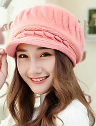 Fashion New Autumn And Winter Women 'S Small Rabbit Rabbit Fur Rabbit Cap Warm Wool Knit Hat
