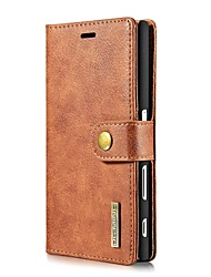 Solid Color Two-in-One Genuine Leather Cowhide Mobile Phone Holster for Sony Xperia X XZ