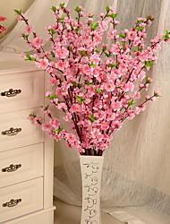1 Branch Peach Blossom Artificial Flowers (Random color)