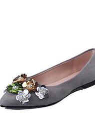 Women's Flats Comfort Slouch boots Fleece Spring Fall Casual Walking Comfort Slouch boots Sequin Flat Heel Black Gray Almond Flat