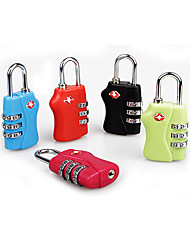 Travel Customs TSA Lock 3 Dial Combination Padlock For Luggage Zipper Bag Handbag Suitcase
