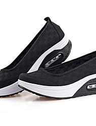 Damen-Sneaker-Outddor Lässig Sportlich-Tüll-Keilabsatz-Komfort Leuchtende Sohlen