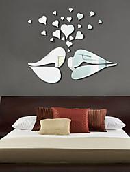 Personnes Stickers muraux Miroirs Muraux Autocollants Autocollants muraux décoratifs,Vinyle Matériel Décoration d'intérieur Calque Mural