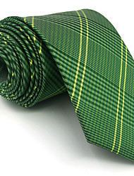 B19 Men Ties Green Geometric Fringe 100% Silk Business Fashion Wedding New For Men