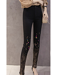 Sign Europe station 2017 new stamping feet pants pants pants female outer wear leggings tide