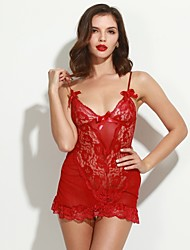 Feminino Super Sensual Roupa de Noite,Sensual RendasFino Renda Branco Roxo Vermelho Preto