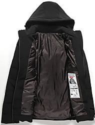 Male models down padded winter new Korean Slim thick hooded down jacket coat Men