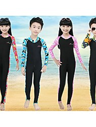 Bluedive Kid's Wetsuits Dive Skins Wetsuit Skin Full WetsuitThermal / Warm Quick Dry Ultraviolet Resistant Front Zipper Sunscreen Full