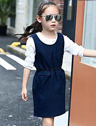 Girl's Solid Dress,Rayon Spring Fall Sleeveless