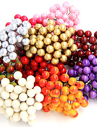 A Bunch Of  40Pcs Mini Fake Fruit Small Berries Artificial Flower Cherry Bouquet Stamen Wedding Home Decorative