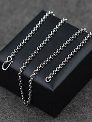 Men's Women's Pendant Necklaces Chain Necklaces Collar Necklace Jewelry Pearl Sterling Silver Single Strand Basic Vintage Silver Jewelry