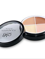 4 Pro Face Concealer Primer Cream Contour Palette Kit Make Up Cover Facial Contouring Makeup Palettes Corrector Base Foundation