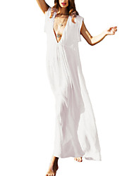 Women's Cover-Up,Solid Others White